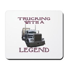 Trucking With A Legend Mousepad