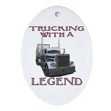 Trucking With A Legend Oval Ornament