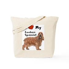 I Love My Cocker Spaniel Tote Bag