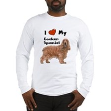 I Love My Cocker Spaniel Long Sleeve T-Shirt