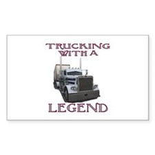 Trucking With A Legend Rectangle Decal