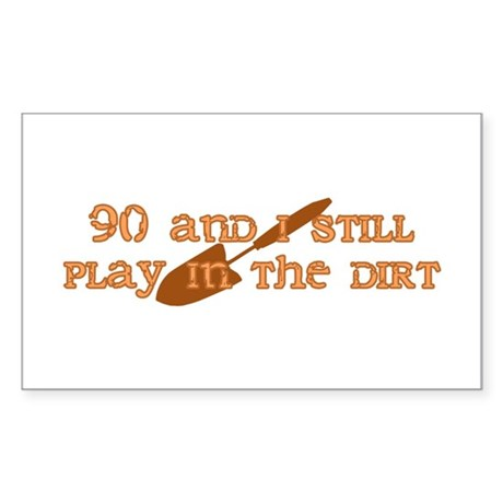 90th Birthday Gardening Rectangle Sticker