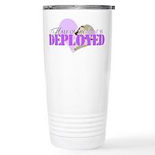 Half of my heart is deployed Travel Mug