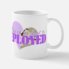 Half of my heart is deployed Mug
