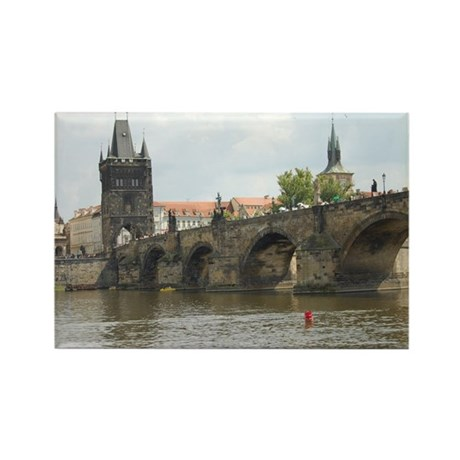 Prague Charles Bridge Rectangle Magnet
