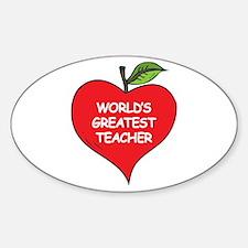 World's Greatest Teacher Oval Decal