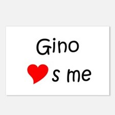 Gino Postcards (Package of 8)