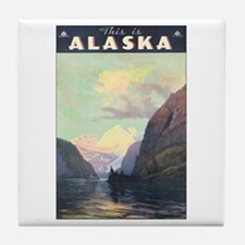 Alaska AK Tile Coaster