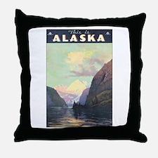 Alaska AK Throw Pillow
