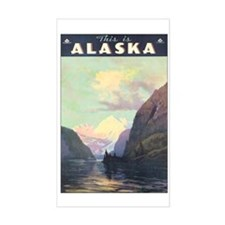 Alaska AK Rectangle Decal
