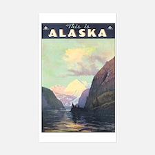 Alaska AK Rectangle Decal