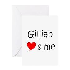 Cute Gillian Greeting Card