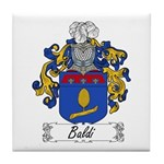 Baldi Family Crest Tile Coaster