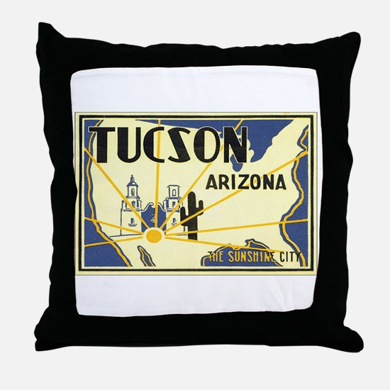 Tucson Arizona AZ Throw Pillow
