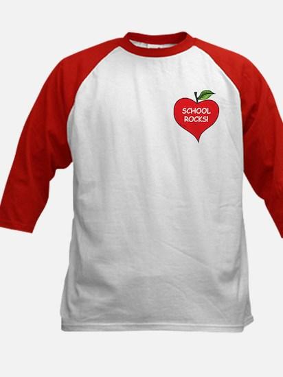 Heart Apple School Rocks Kids Baseball Jersey