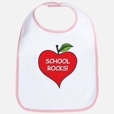 Heart Apple School Rocks Bib