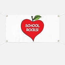 Heart Apple School Rocks Banner
