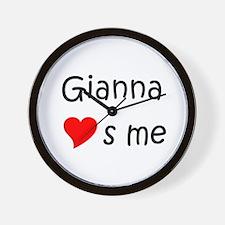 Cute Gianna Wall Clock