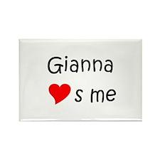 Cute Gianna Rectangle Magnet