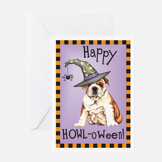 Halloween Bulldog Greeting Card