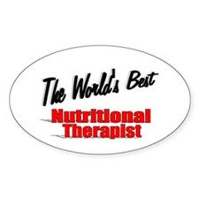 """""""The World's Best Nutritional Therapist"""" Decal"""
