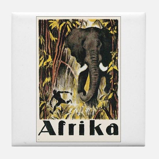 Africa Elephant Tile Coaster