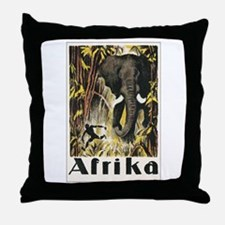 Africa Elephant Throw Pillow