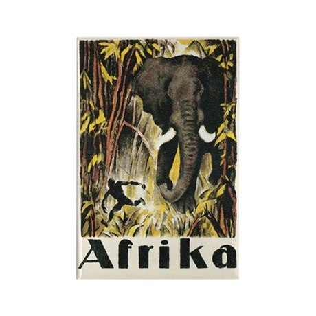 Africa Elephant Rectangle Magnet (10 pack)