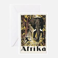 Africa Elephant Greeting Card