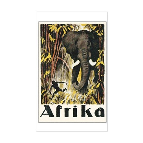 Africa Elephant Rectangle Sticker