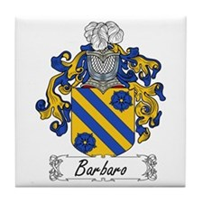 Barbaro Family Crest Tile Coaster