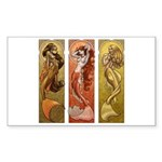Mermaids Nouveau Rectangle Sticker 10 pk)