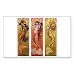 Mermaids Nouveau Rectangle Sticker