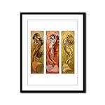 Mermaids Nouveau Framed Panel Print