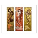 Mermaids Nouveau Small Poster