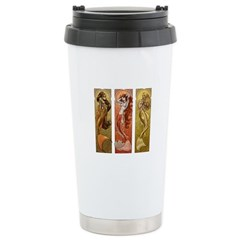 Mermaids Nouveau Stainless Steel Travel Mug