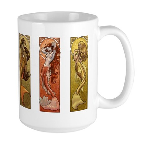 Mermaids Nouveau Large Mug
