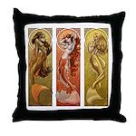 Mermaids Nouveau Throw Pillow