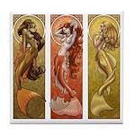 Mermaids Nouveau Tile Coaster