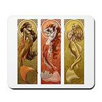 Mermaids Nouveau Mousepad