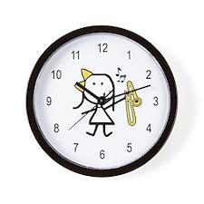 Girl & Trombone Wall Clock