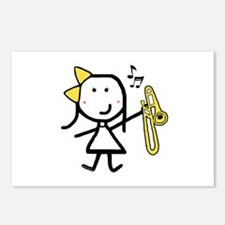 Girl & Trombone Postcards (Package of 8)