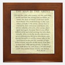 The Man In The Arena Framed Tile