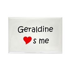Cool Name geraldine Rectangle Magnet