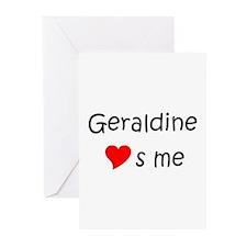 Name geraldine Greeting Cards (Pk of 20)