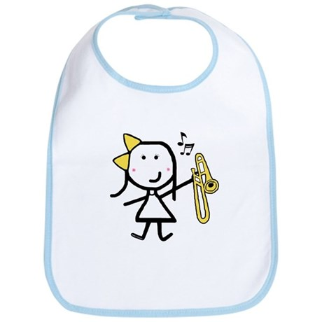 Girl & Trombone Bib
