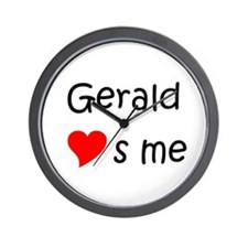 Cool Gerald name Wall Clock