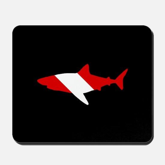 Diving Flag: Shark Mousepad