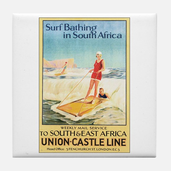 South Africa Surfing Tile Coaster