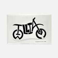 William Black Bike Rectangle Magnet